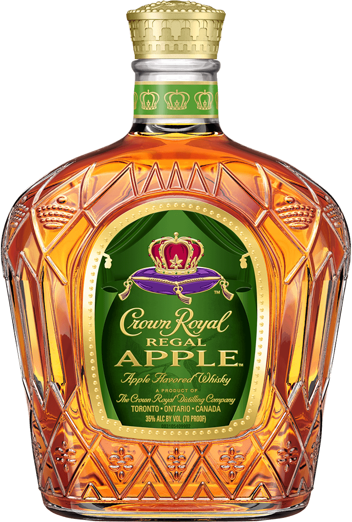 Crown Royal Regal Apple Flavored Whisky Bottle - Blended Canadian Whisky - Crown Royal
