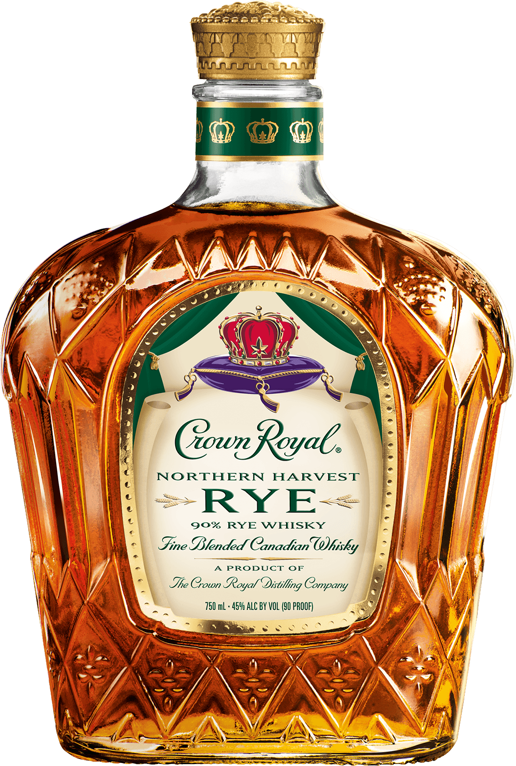Crown Royal Northern Harvest Rye Whisky Bottle - Canadian Whisky - Crown Royal