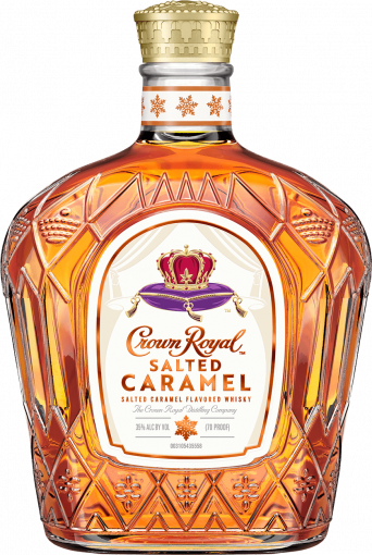 Crown Royal Salted Caramel Flavored Whisky Bottle - Blended Canadian Whisky - Crown Royal