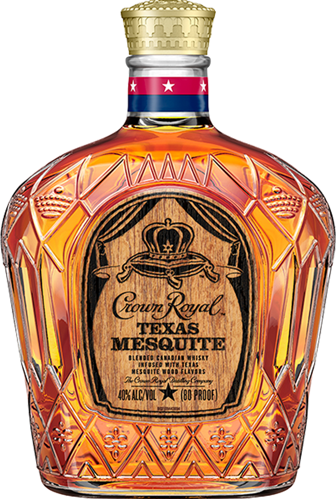 Crown Royal Texas Mesquite Whisky Bottle - Blended Canadian Whisky - Crown Royal