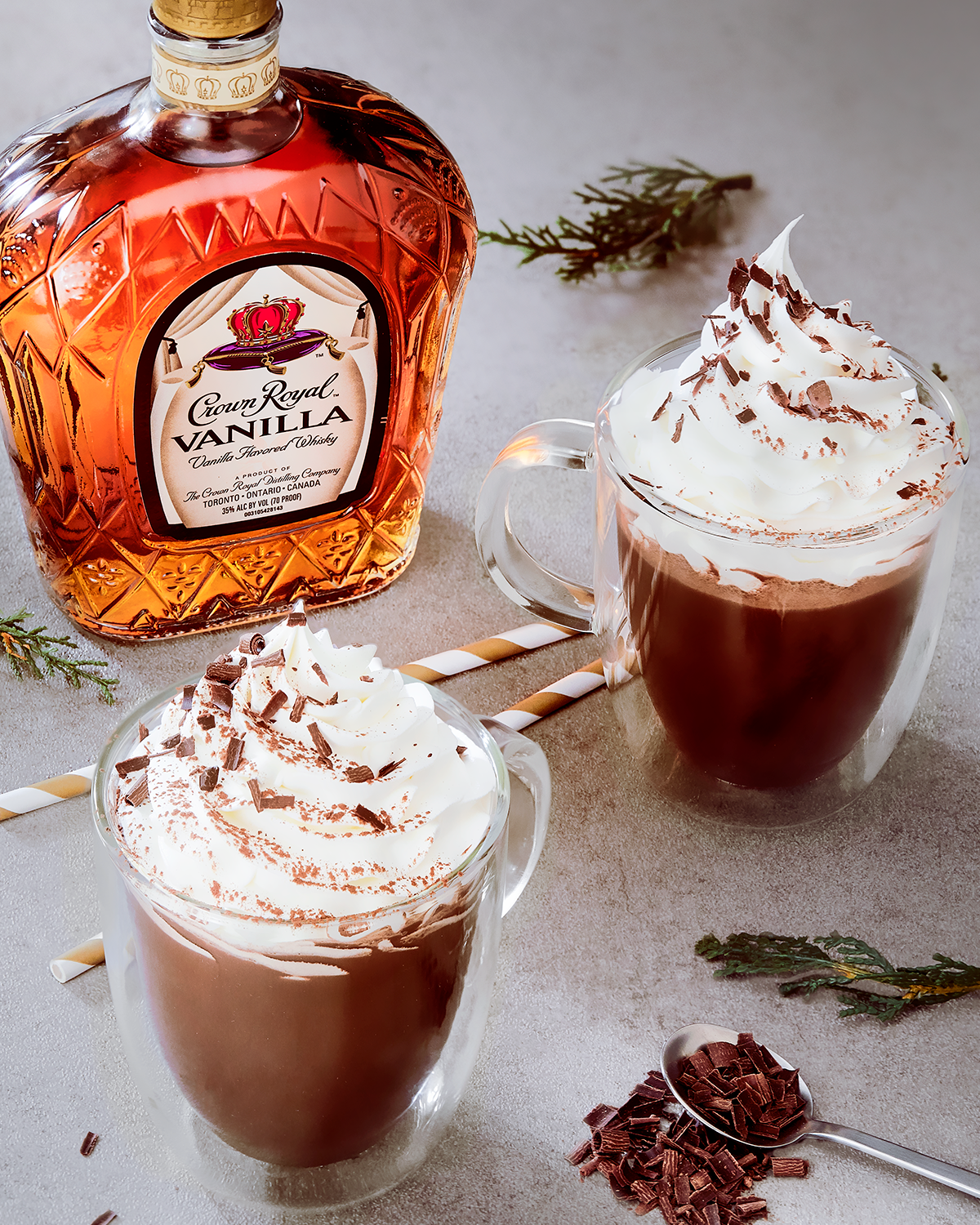 Crown Royal Vanilla Hot Chocolate Whisky Cocktail